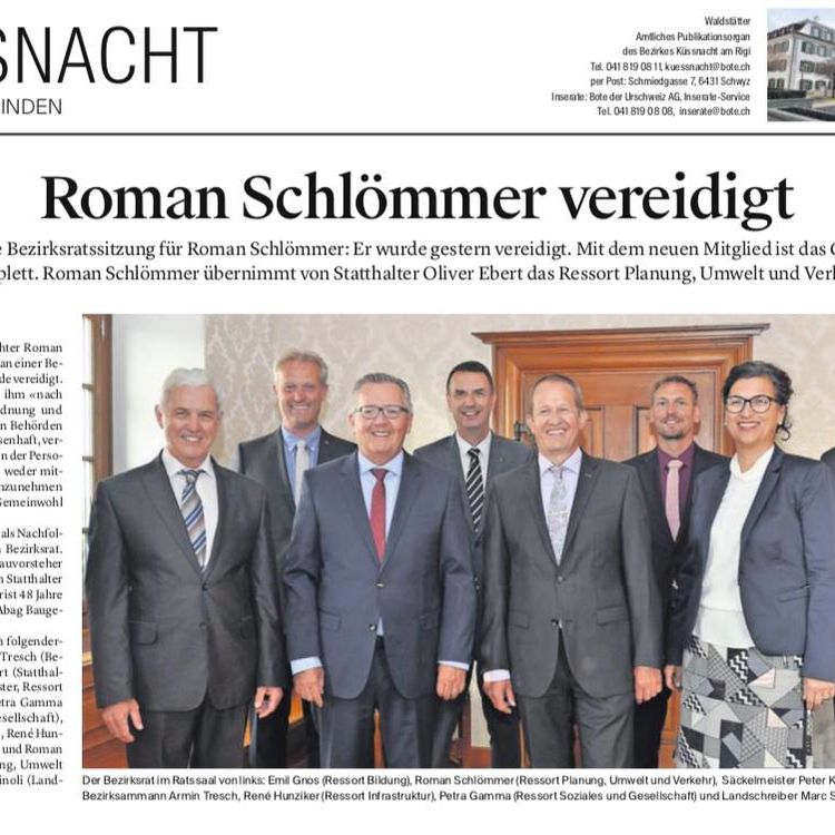Roman Schlömmer vereidigt als Bezirksrat